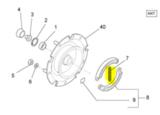 Remschoen voorvork trekveer Piaggio Ape 50 Brake shoe front fork tension spring Bremsbeläge Vordergabel Mâchoire