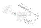 Borgring Achteras - Versnellingsbak Piaggio Ape 50 006647 Bague de retenue Essieu arrière - Boîte de vitesses Ret